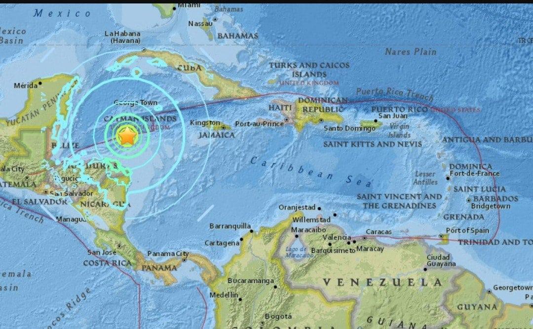Sismo de magnitud 7,6 grados sacudió las costa del Caribe