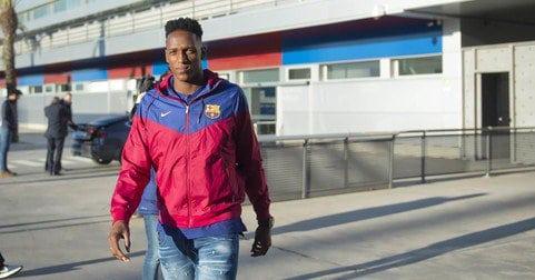 Yerry Mina fue presentado oficialmente como jugador del Barcelona