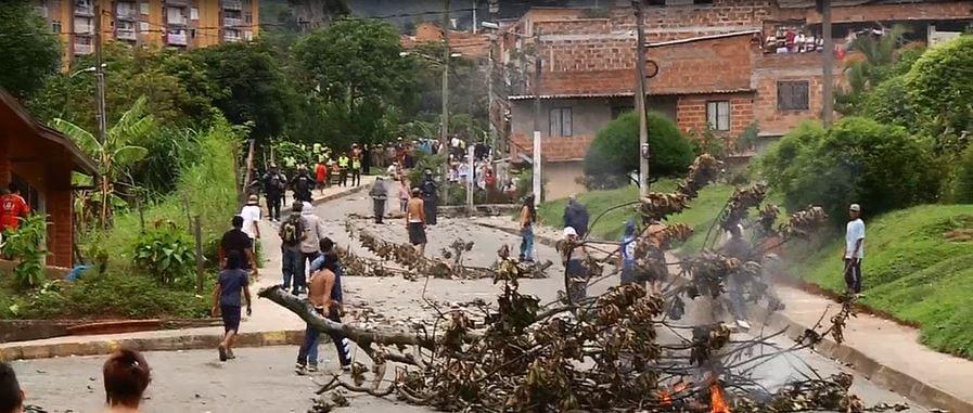 Dos personas capturadas luego de disturbios en San Antonio de Prado
