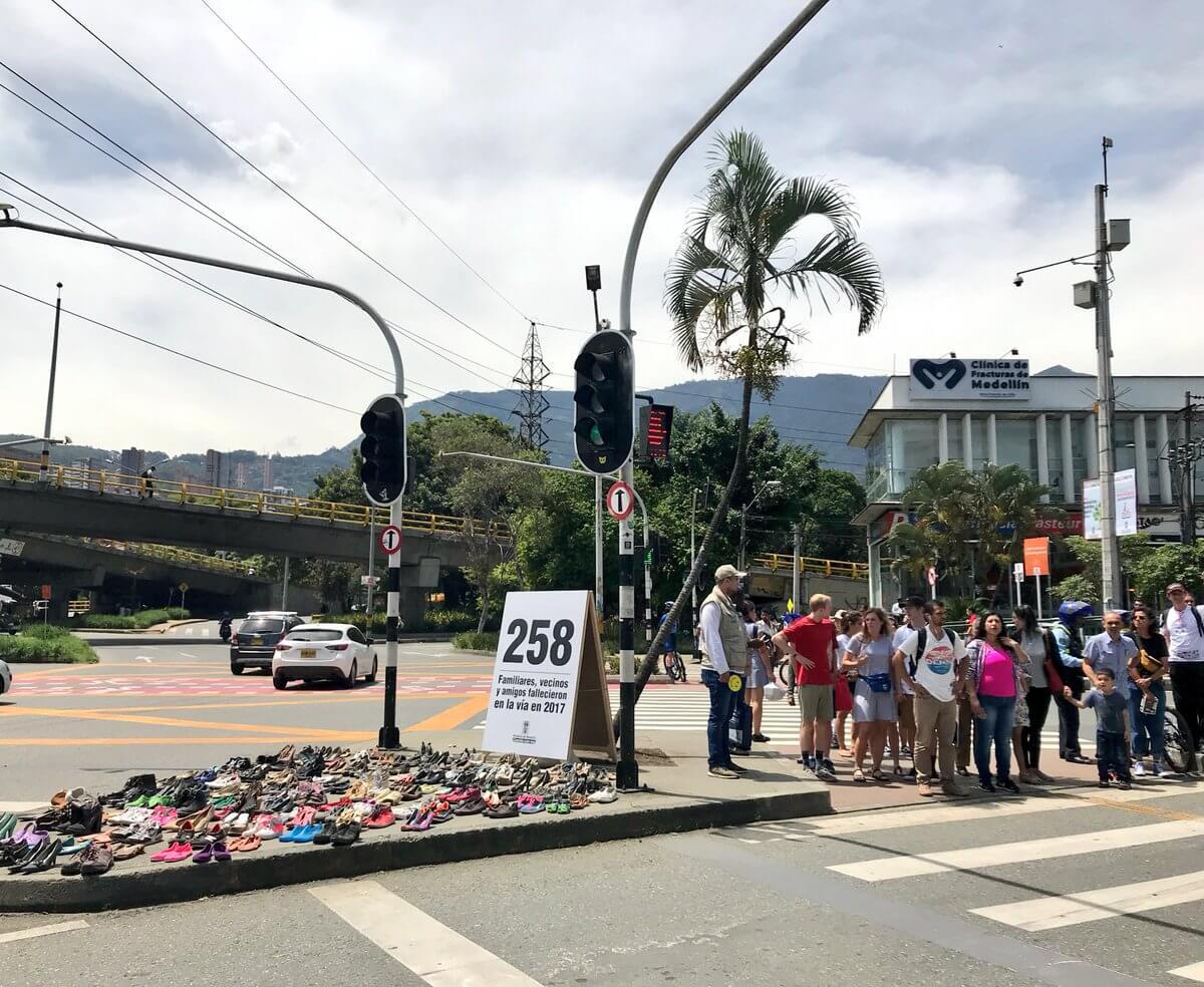 Estos son los cinco puntos de mayor accidentalidad en Medellín