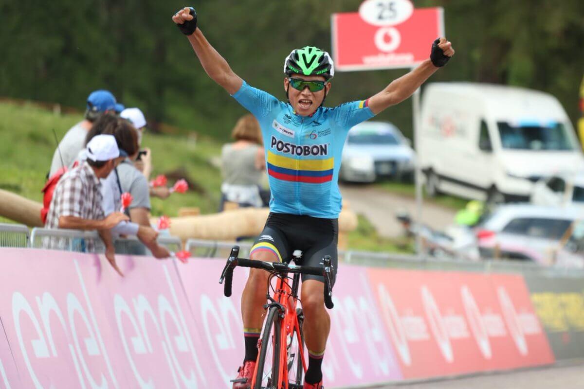 El ciclista colombiano Einer Rubio ganó la etapa 5 del Giro Sub 23