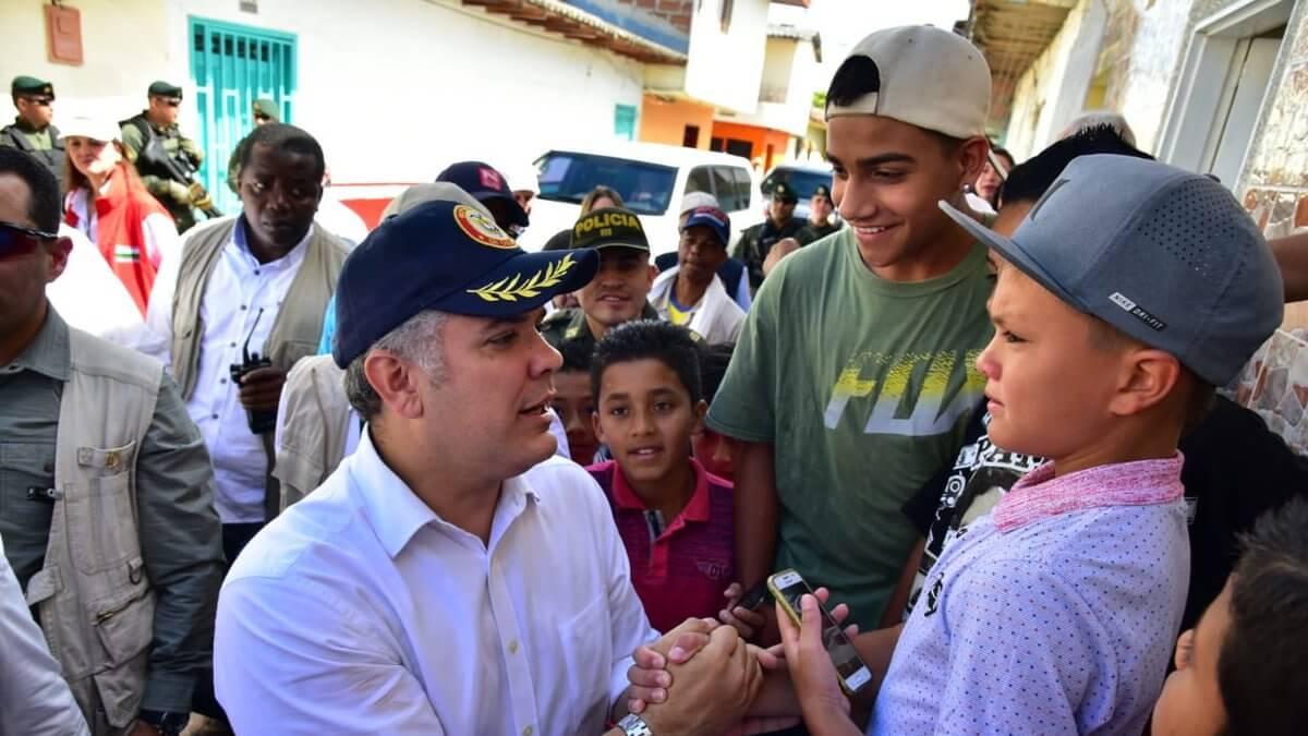 Iván Duque hizo su primera visita como Presidente Electo en Gómez Plata