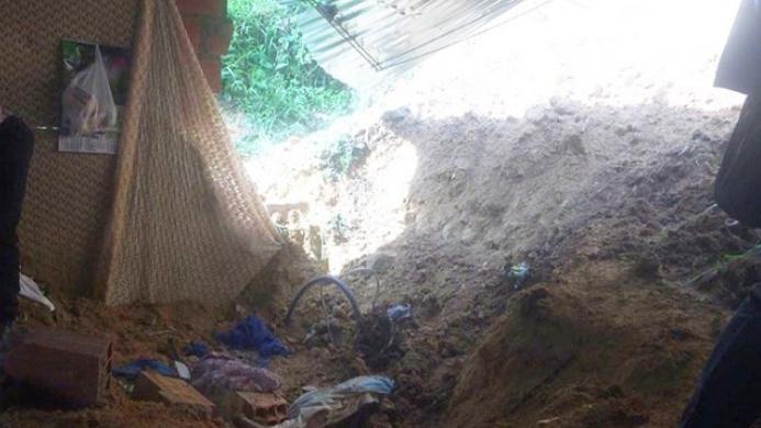 Mujer murió sepultada por deslizamiento de tierra en Ocaña