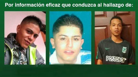 Ofrecen recompensa por los tres jóvenes desaparecidos en Medellín