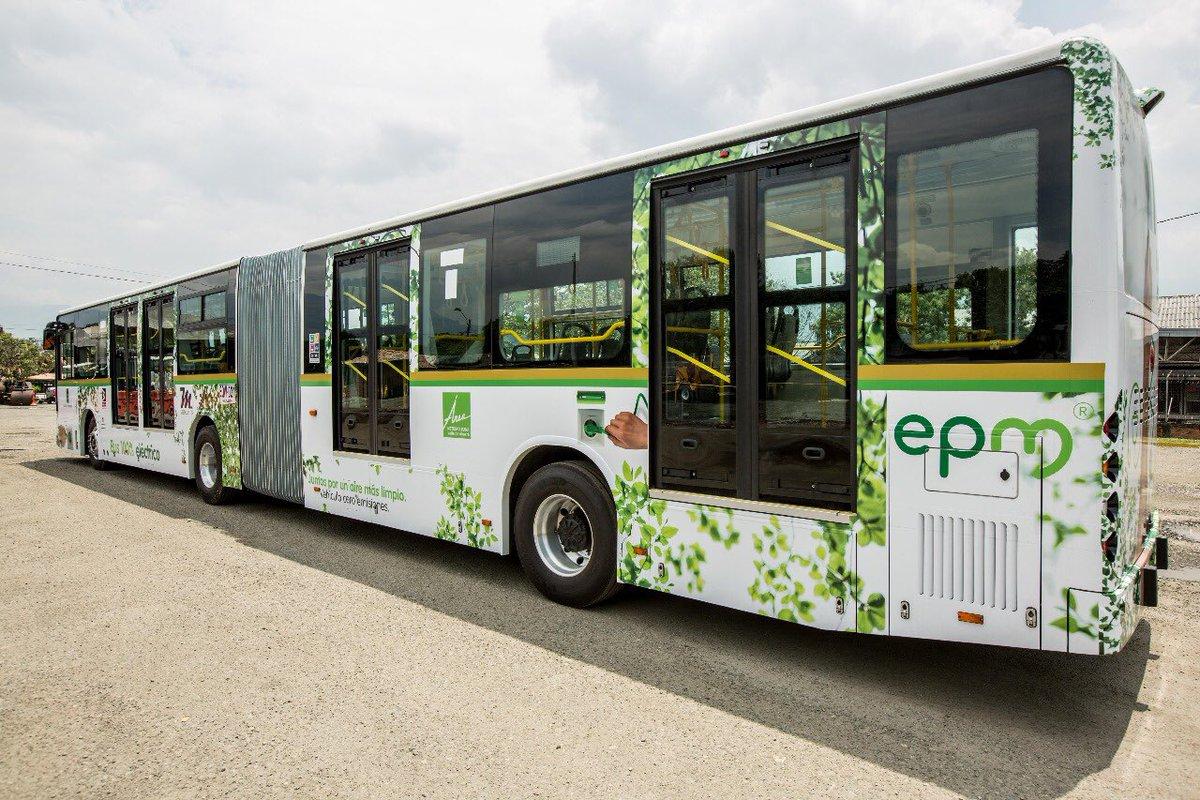 Para el 2019 llegarán a Medellín 64 buses eléctricos de Metroplús