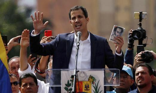 Juan Guaidó se declaró presidente interino de Venezuela