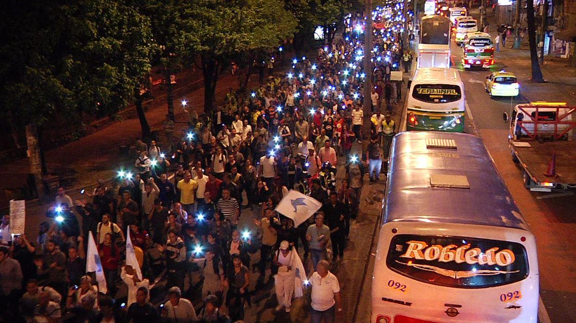 Se realizó en Medellín una marcha para pedir la renuncia del Fiscal General