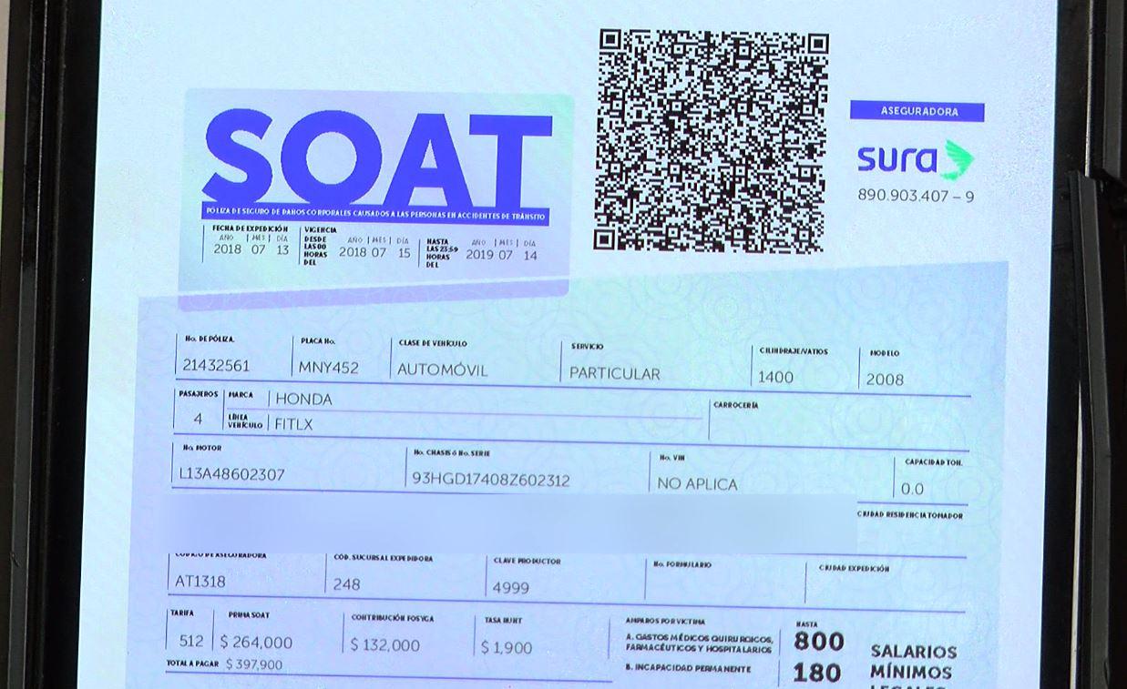 Gobierno busca mitigar el fraude con el Soat electrónico
