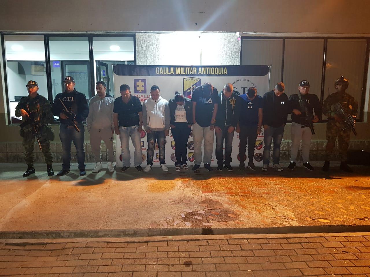Capturan a 9 personas por robos en apartamentos en Medellín