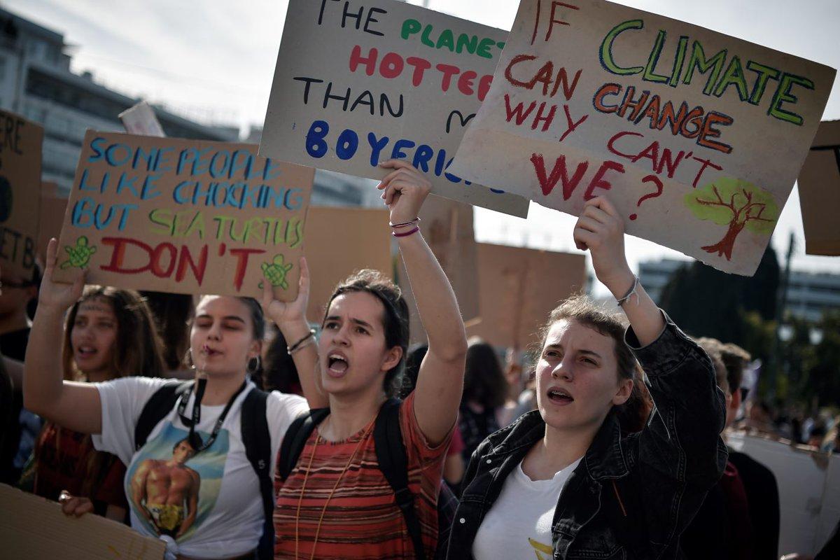 Jóvenes se unen en marcha global contra el cambio climático