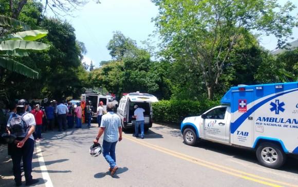 Accidente de tránsito dejó dos menores y dos mujeres muertas en Titiribí