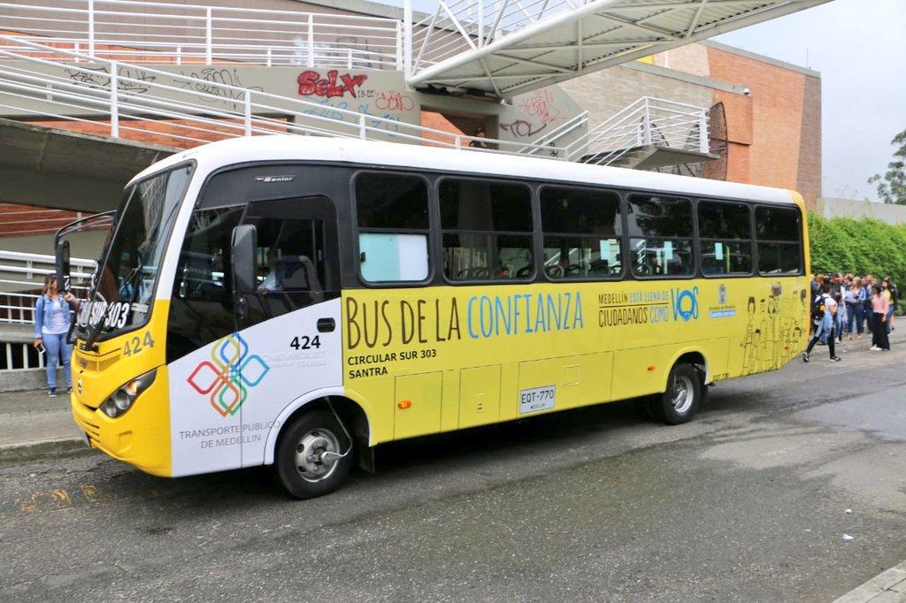 El Bus de la Confianza comenzó a circular por las vías de Medellín