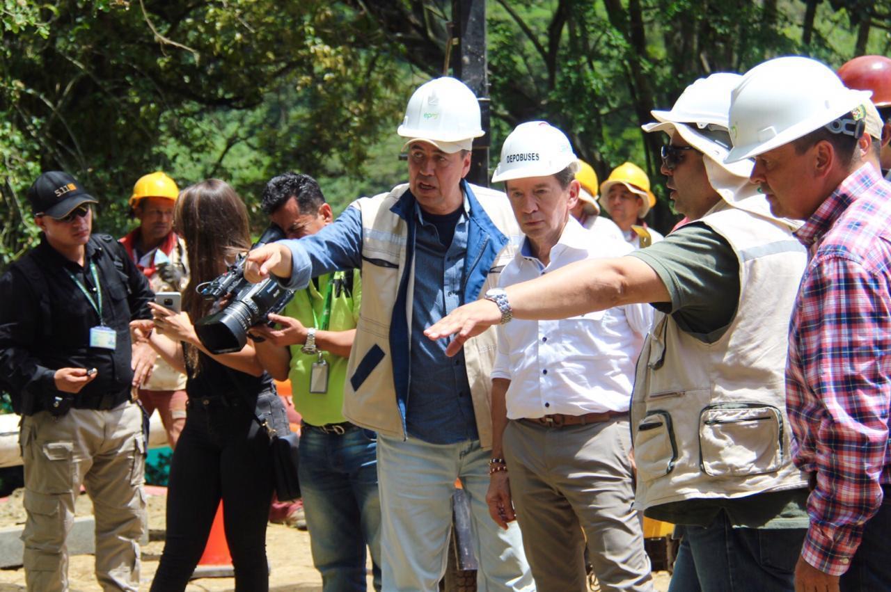 Gobernador de Antioquia visitó la vereda Ancón 2 tras emergencia