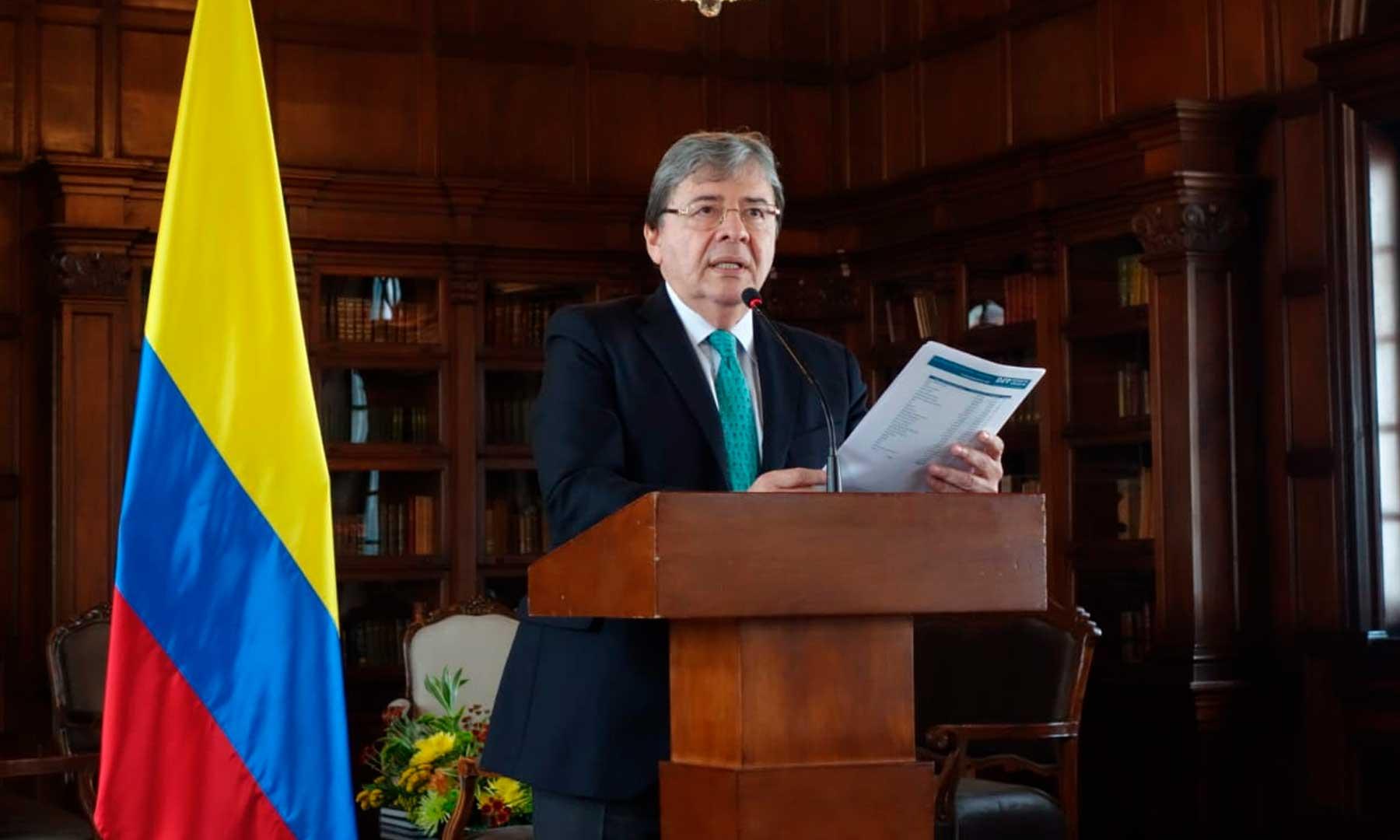 Carlos Holmes Trujillo lanzó alerta sobre el costo de la crisis migratoria para Colombia