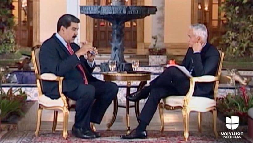 Recuperan polémica entrevista de Jorge Ramos a Nicolás Maduro