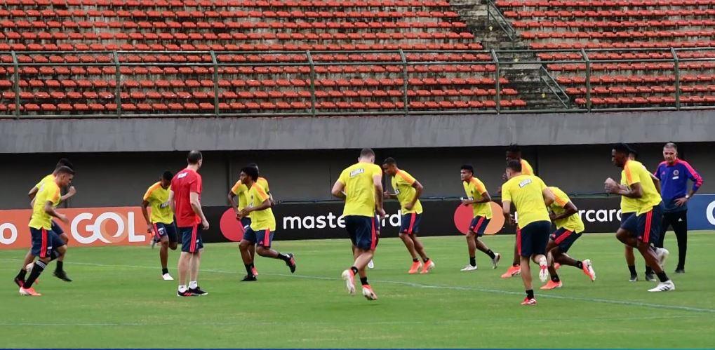 Selección Colombia realizó su primera práctica en Brasil