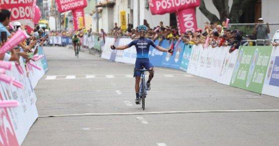 Cristhian Montoya ganó la tercera etapa de la Vuelta a Colombia