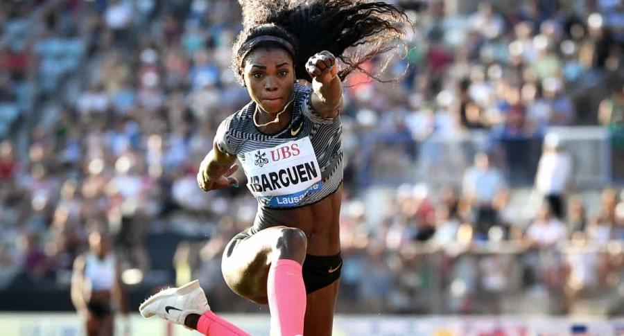 Caterine Ibargüen perdió una prueba del salto triple en la Liga Diamante