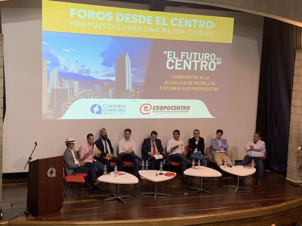 Ocho precandidatos a la Alcaldía de Medellín hablaron sobre el Centro de la ciudad