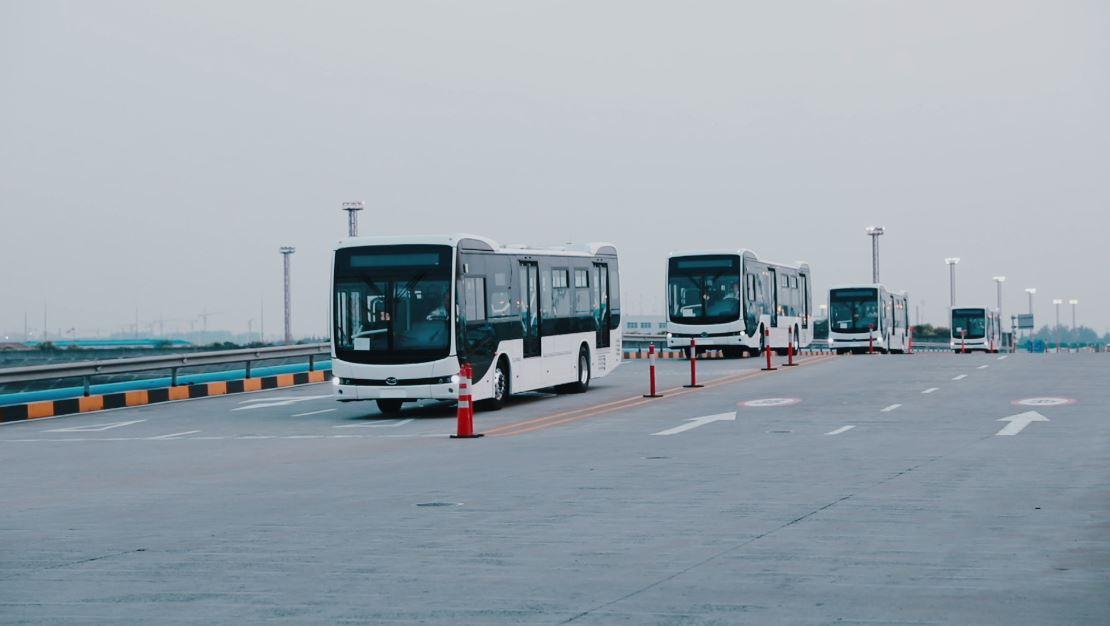 Así sería la operación de los buses eléctricos en la 80