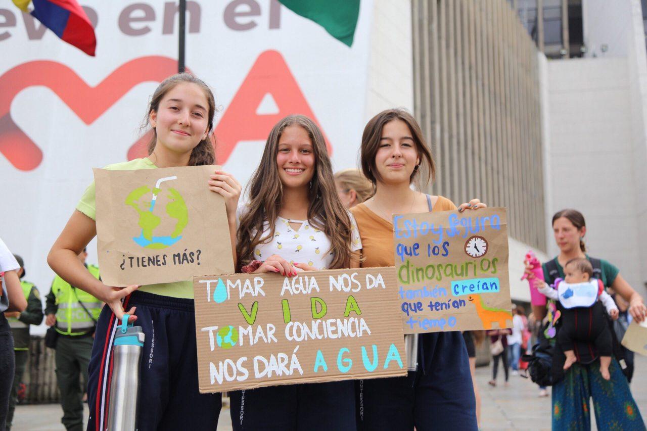Medellín también marchó contra el cambio climático