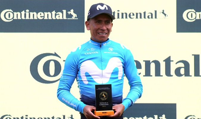 Nairo Quintana, segundo en la clasificación general de la Vuelta a España
