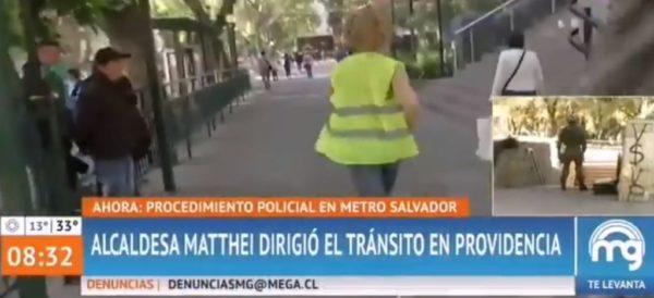 (Video) Alcaldesa en Chile sale a correr en medio de entrevista