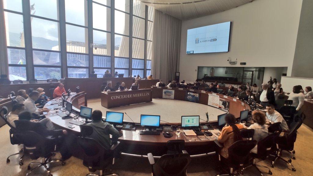 Se realizó la clausura de sesiones ordinarias en el Concejo de Medellín