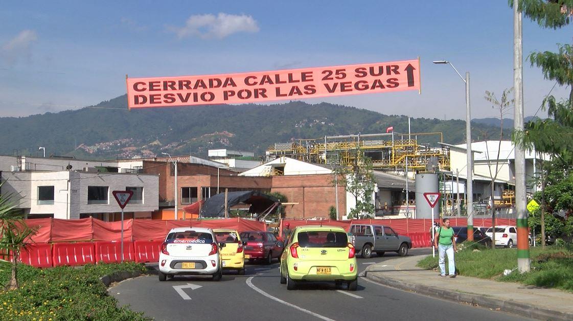 Calle 25 Sur tendrá cierre definitivo por obras de conexión vial