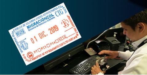 Colombia cambió el sello de control migratorio que se pone en pasaporte