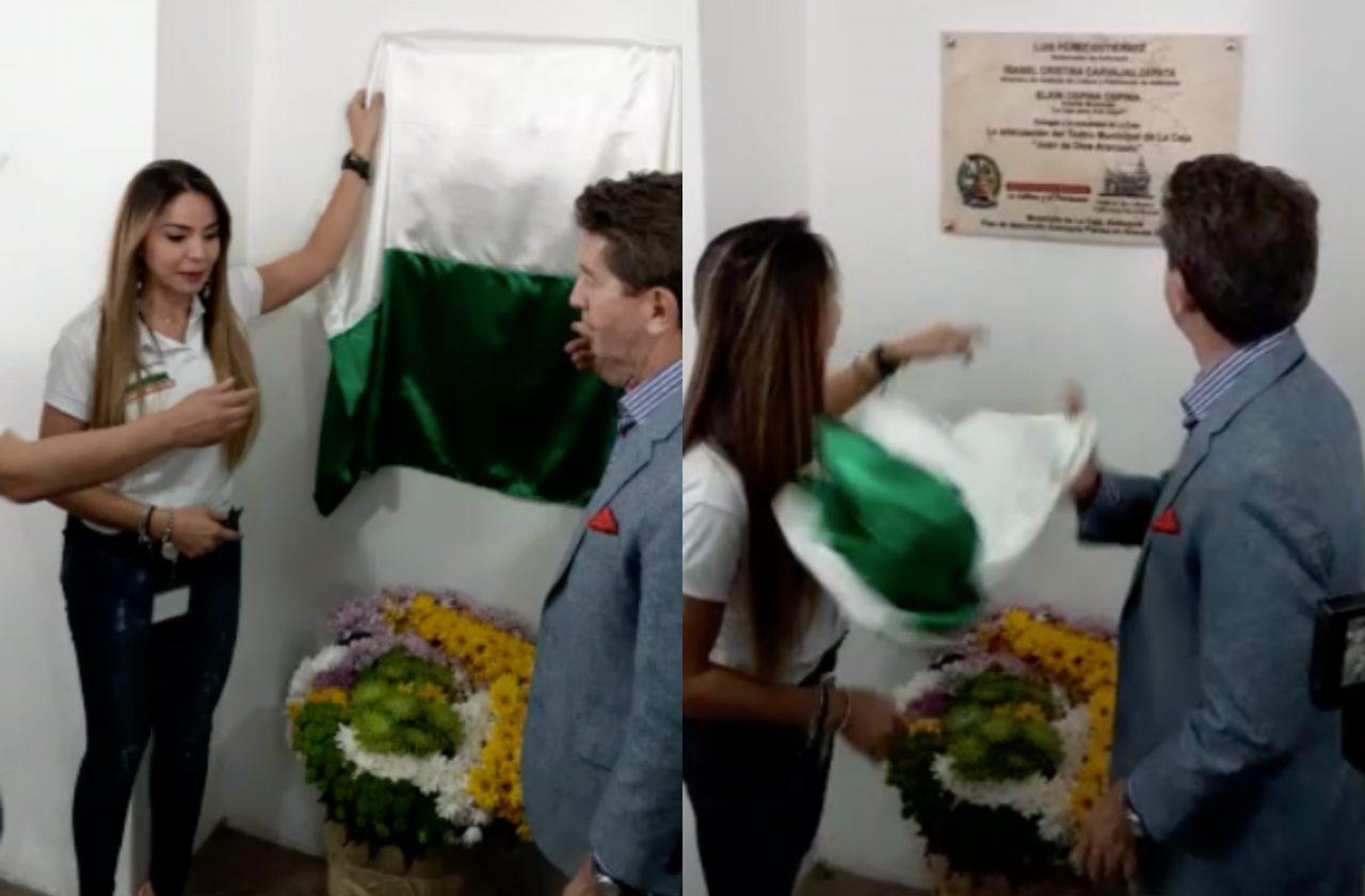 Polémica por video en el que Gobernador lanza bandera de Antioquia