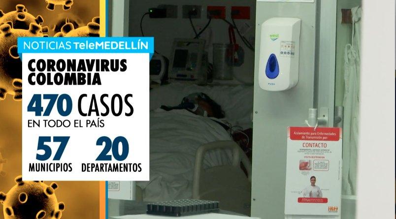 Van 470 personas infectadas y 4 muertos por Coronavirus en Colombia