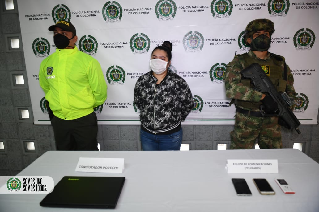 "Capturada alias ""Deisy"" presunta integrante del ELN"
