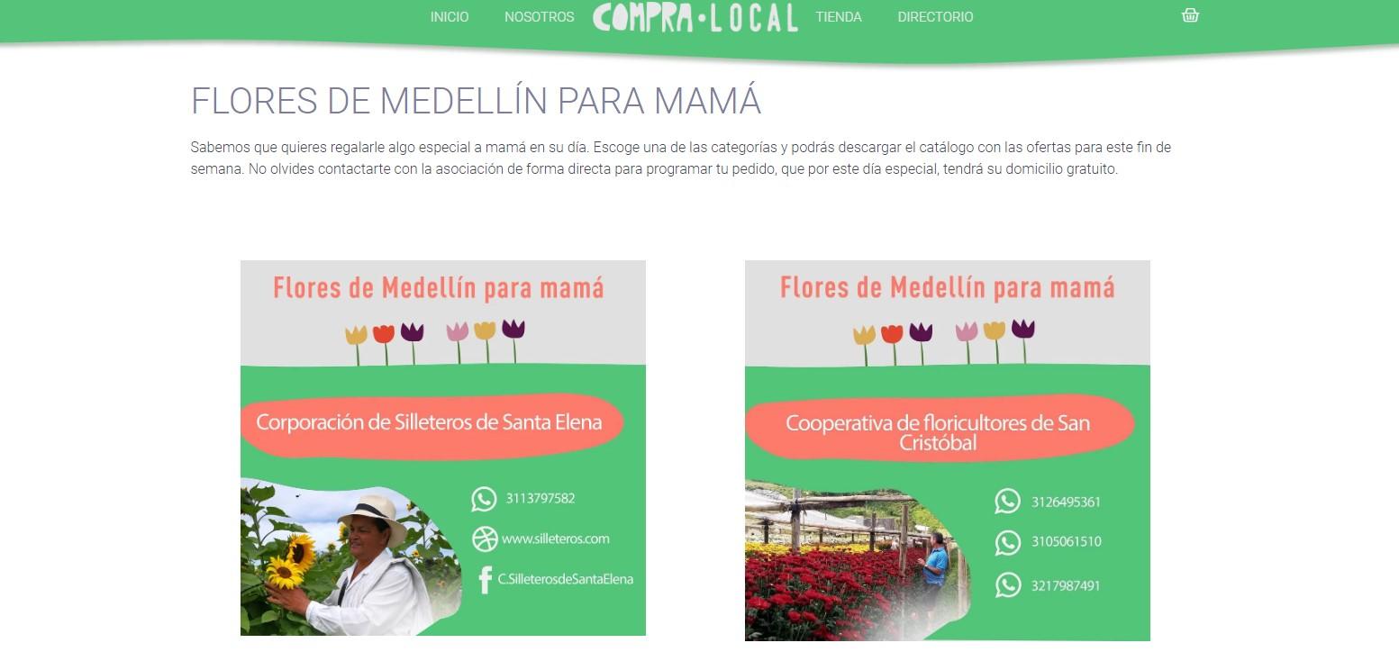 """""""Compra Local"""" campaña de la Alcaldía de Medellín en apoyo al sector floricultor"""