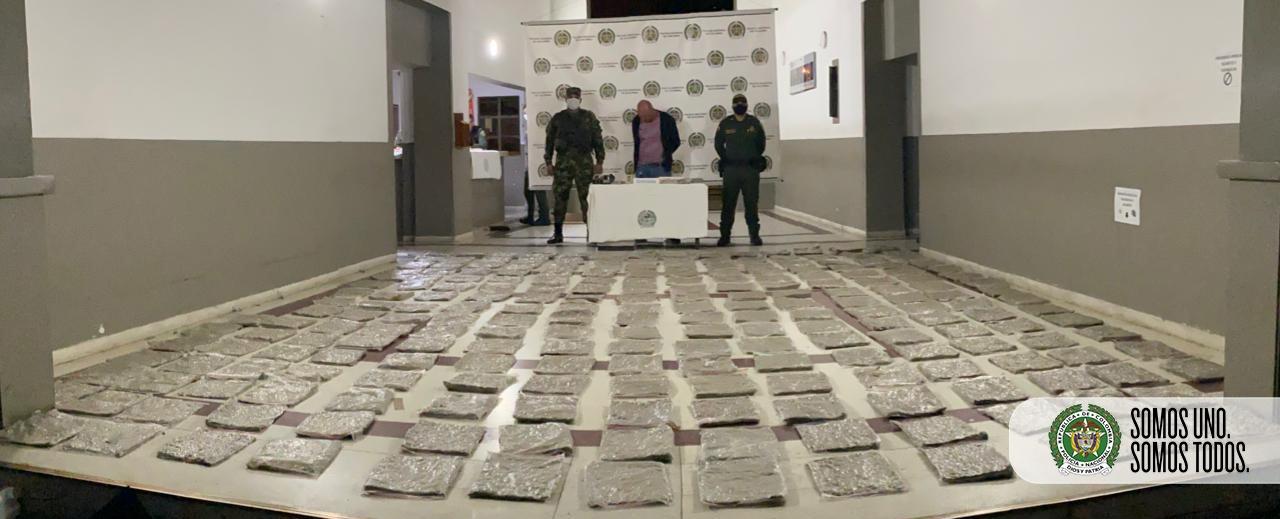 360 kilos de marihuana decomisó la Policía en Itagüí y Bello
