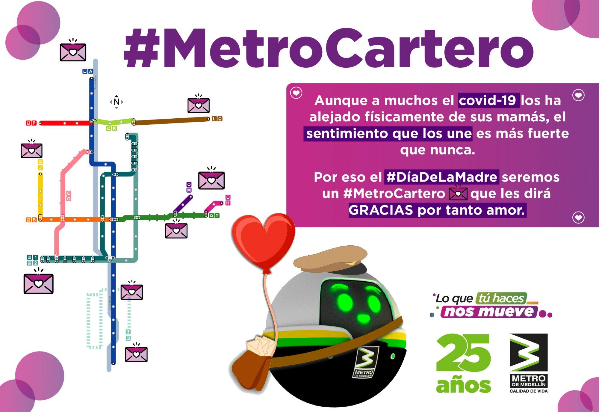 El Metro Cartero, es la campaña pensada para celebrar el Día de la Madre