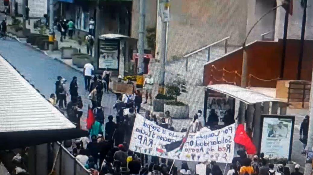 Protesta en Medellín dejó más de 40 capturados y un caballo herido