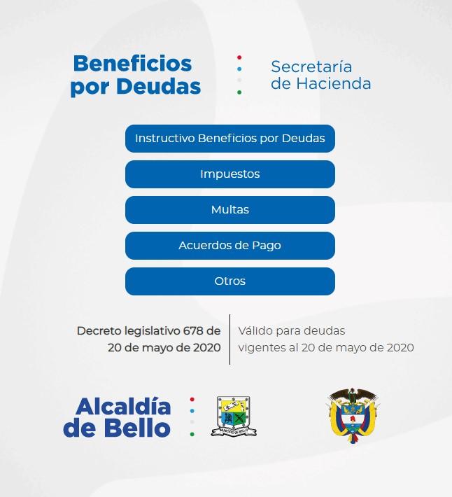 Lanzan plataforma con beneficios para deudores en Bello