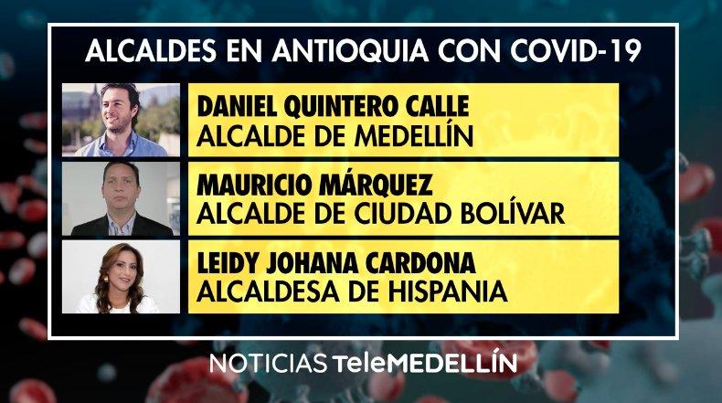 El gobernador encargado y seis alcaldes en Antioquia tienen COVID-19