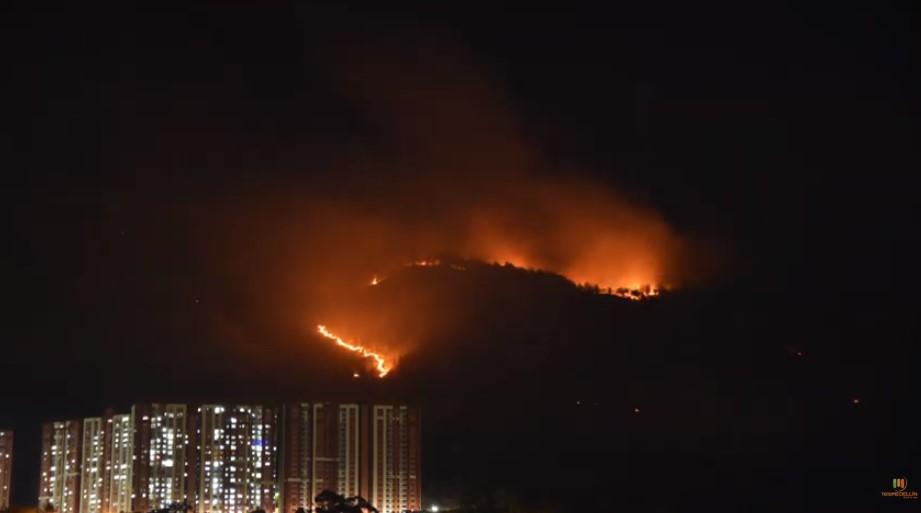 Se registra un incendio de grandes proporciones en el Cerro Quitasol