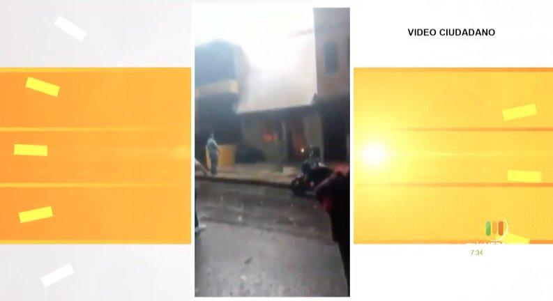 Cuerpo de Bomberos atendió un incendio en Envigado