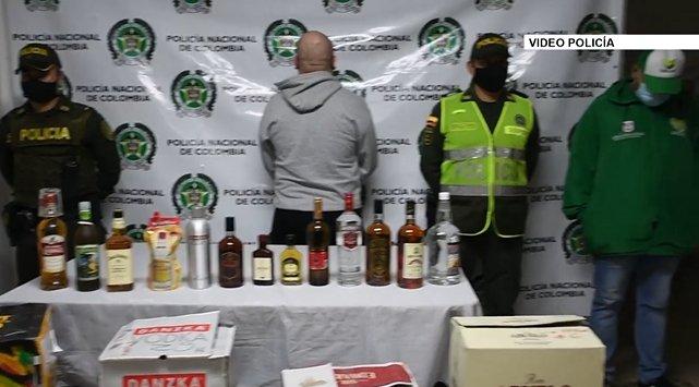 Autoridades decomisan más de 2.000 botellas de licor adulterado en La Ceja