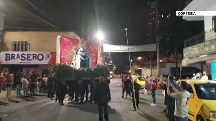 Autoridades rechazaron procesión religiosa realizada en Itagüí