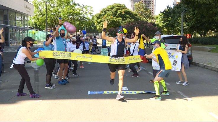 Completada la Maratón de Boston desde Medellín