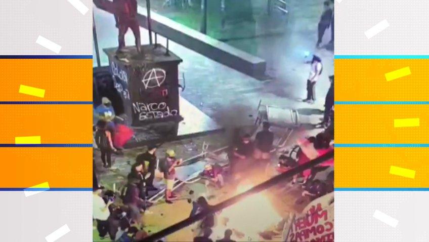 Balance de disturbios por jornada de protestas en Medellín