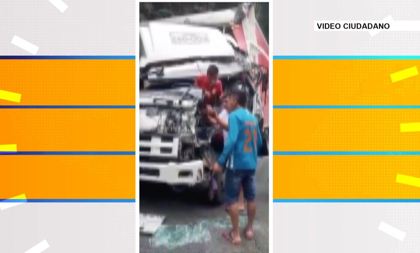 Hombre quedó atrapado luego de accidente en la vía Medellín – Doradal