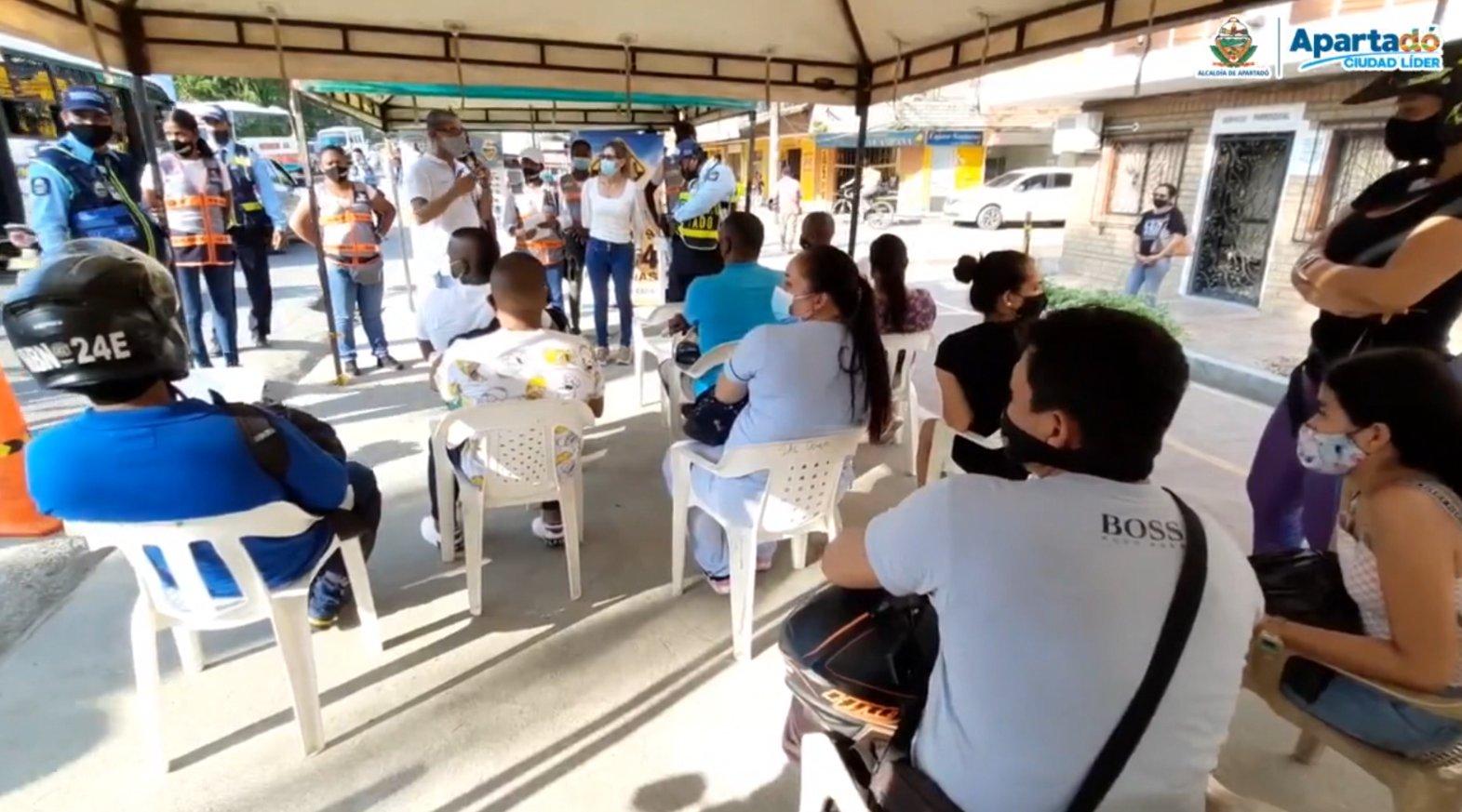 Campaña vial para mejorar movilidad en Apartadó