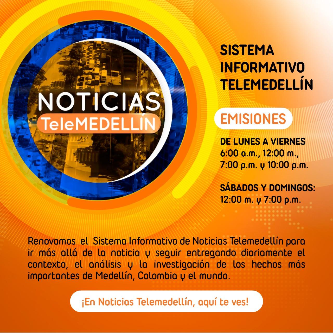 A partir de mañana Telemedellín renueva su sistema informativo