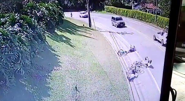 Se entregó conductor que atropelló a tres ciclistas en La Ceja
