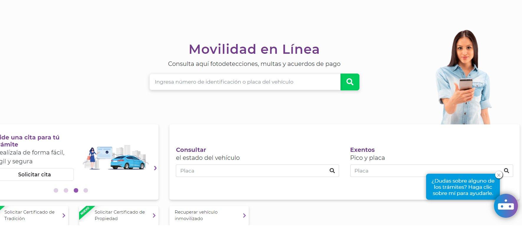 17.800 gestiones se han realizado a través de la plataforma Movilidad en Línea
